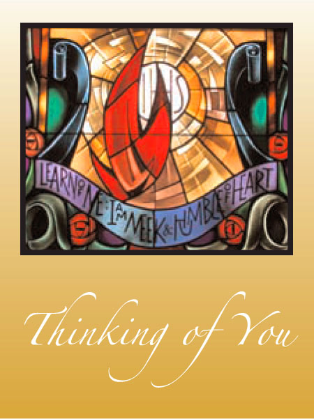 #001 Thinking of You Message: May the peace beyond all human understanding hold you in God's heart today and always