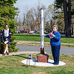 BLESSING OF PEACE POLE MARKS EARTH DAY OBSERVANCE