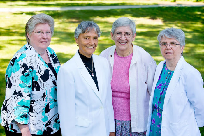 Sister Patricia Tavis, Sister Patrice Werner, Sister Elsie Bernauer and Sister Eileen Ivory